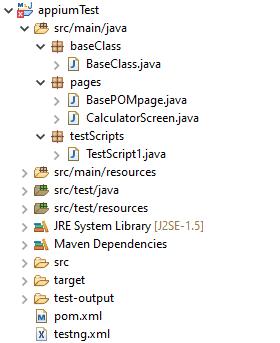 2 appiumTest file structure